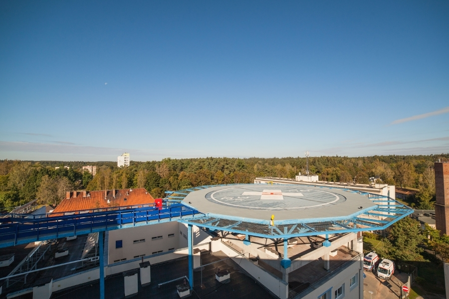 Spring elements for helipad - hospital in Olsztyn
