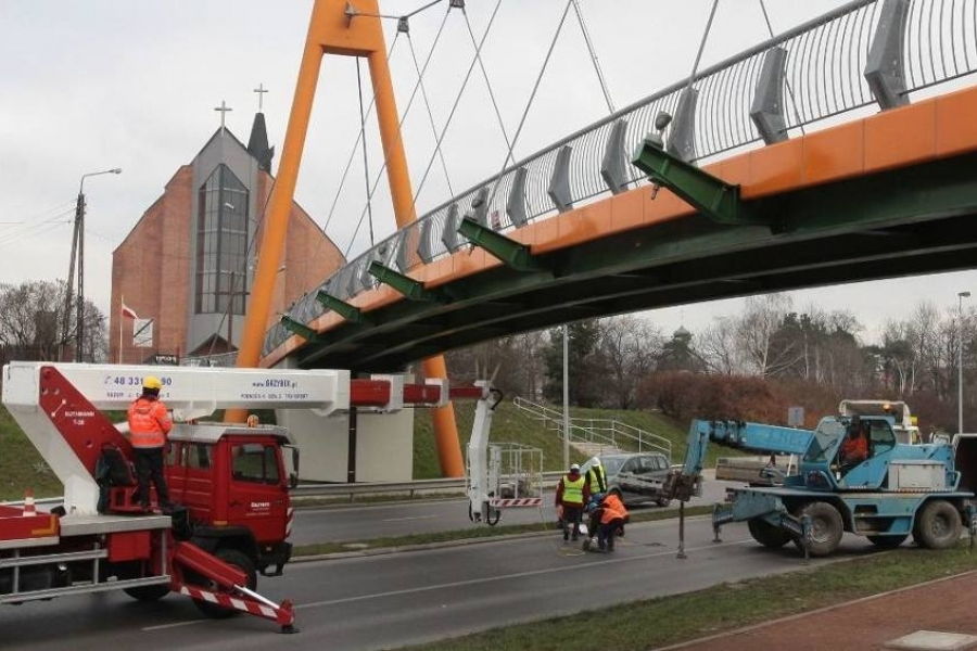 Tuned mass dampers - footbridge in Radom
